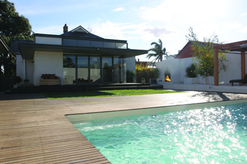 Award winning home renovations with pool